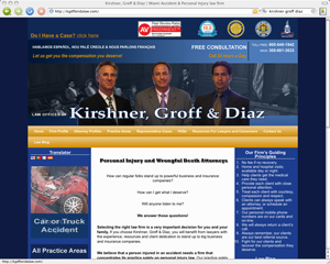 injury attorney website development